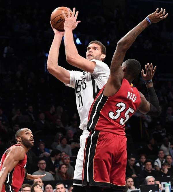 Nets center Brook Lopez, who had 30 points
