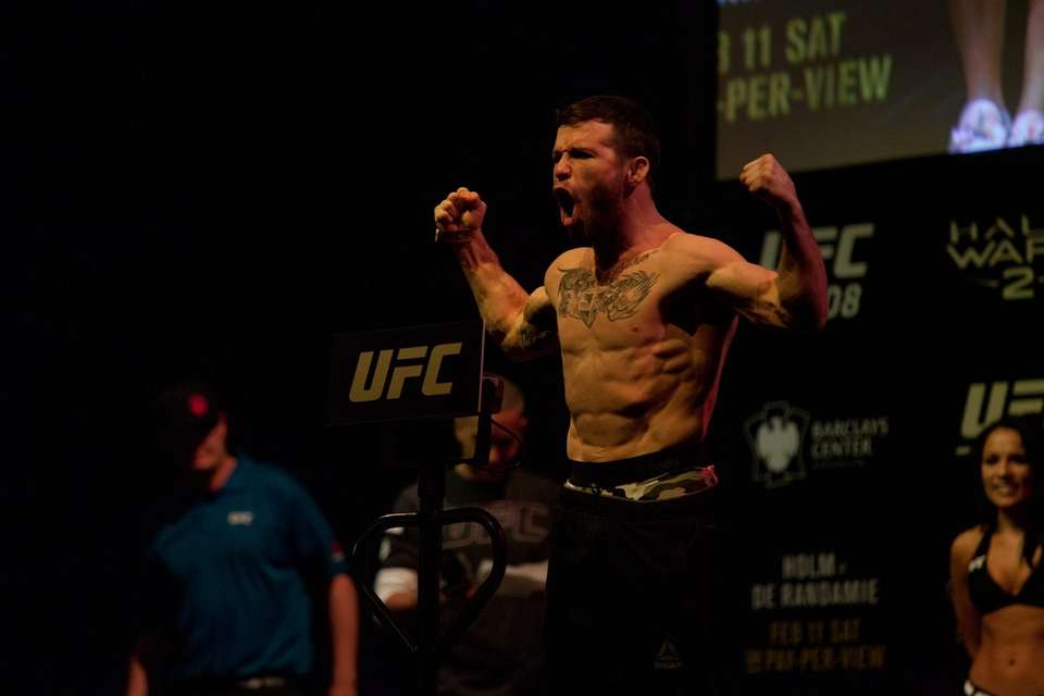 Jarred Brooks at the UFC 208 ceremonial weigh-ins
