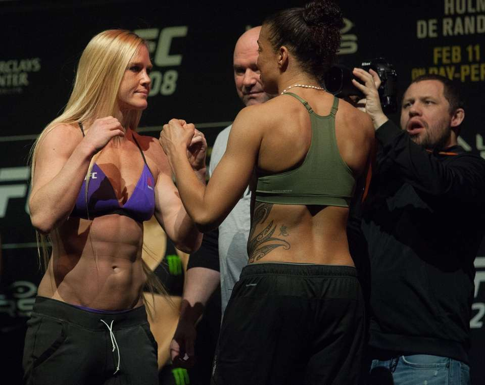 Holly Holm and Germaine de Randamie face off