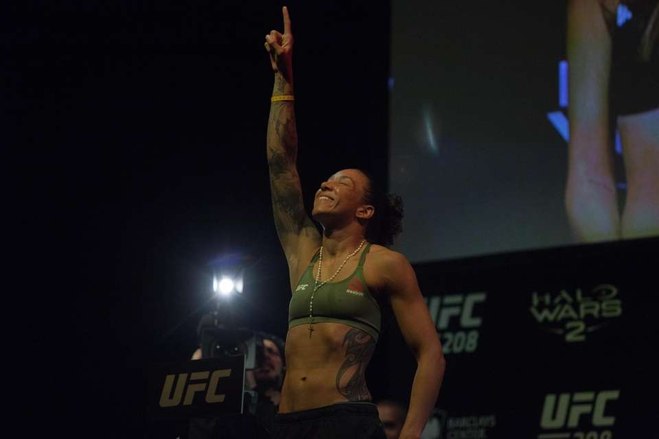 Germaine de Randamie at the UFC 208 ceremonial