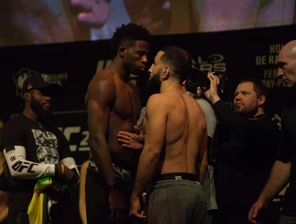 Randy Brown and Belal Muhammad face off at