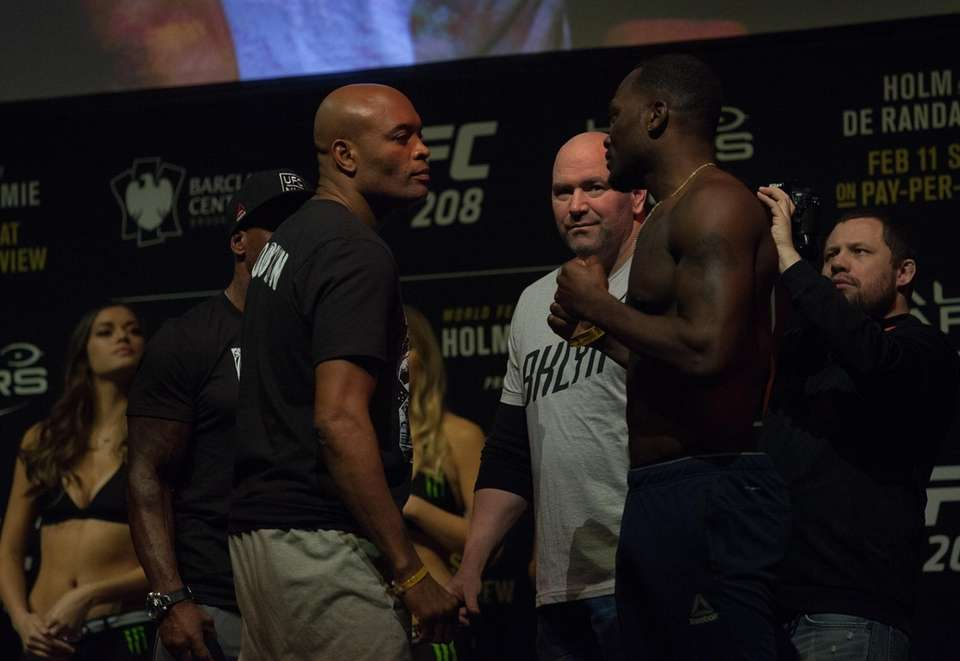 Anderson Silva and Derek Brunson face off at