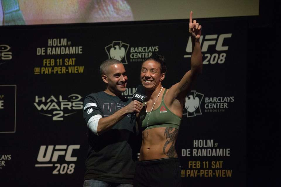 Germaine de Randamie talks with Jon Anik at