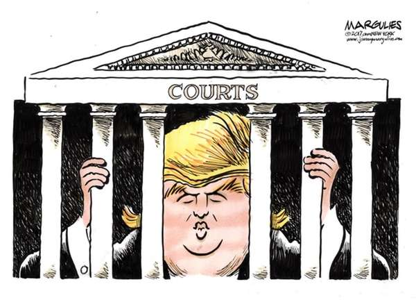 Jimmy Margulies cartoon about Donald Trump held hostage