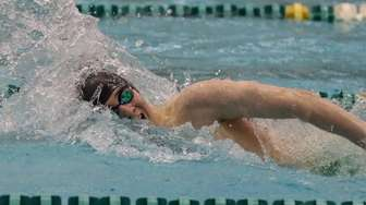 Garden City's John Gaffney swims in the 200-yard
