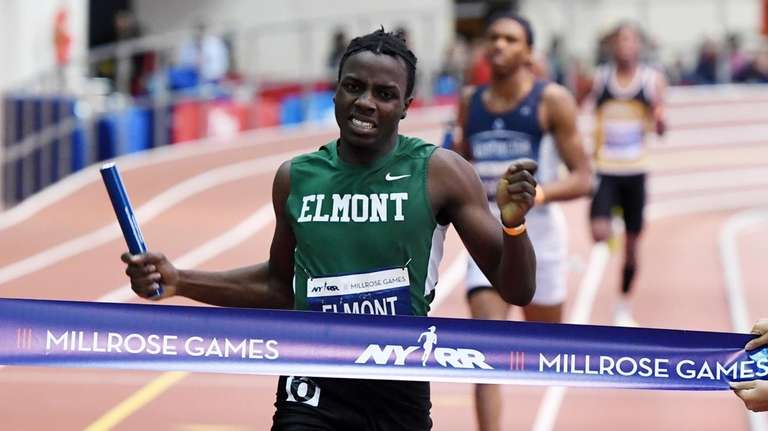 Demoni Gilkes of Elmont High School wins the