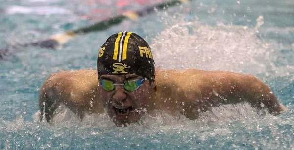 St. Anthony's Conor Rutigliano swims in the 100-yard