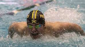 St. Anthony's Conor Rutigliano swims in the 100-yard