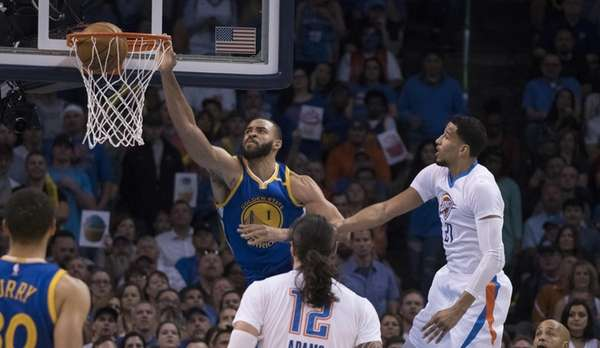 JaVale McGee, #1, of the Golden State Warriors