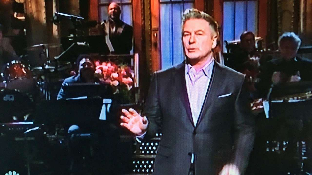 Alec Baldwin delivers his opening monologue on