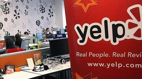 Employees of the online review site Yelp at