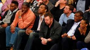 New York Knicks owner James Dolan watches his