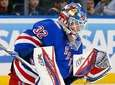 Antti Raanta of the New York Rangers makes