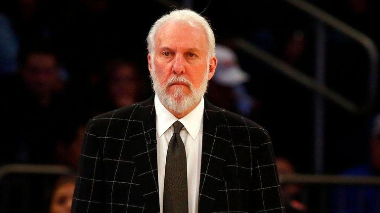 Head coach Gregg Popovich of the San Antonio