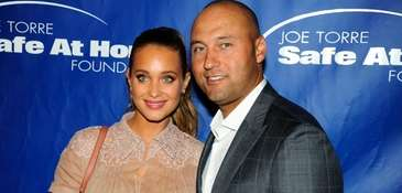 Hannah and Derek Jeter appear at the Joe
