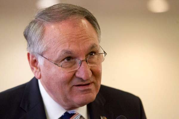 Nassau County comptroller George Maragos speaks to the