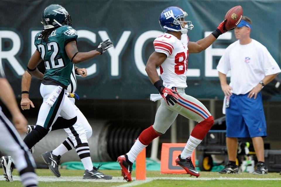 With veteran Brandon Stokley injured, the Giants had