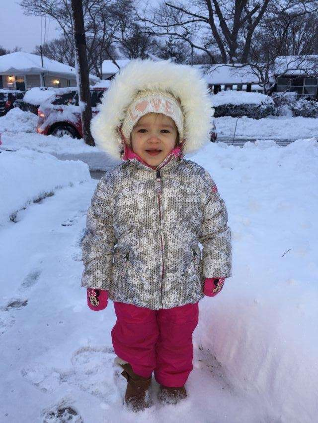 Charlette San Filippo experiencing a taste of snow