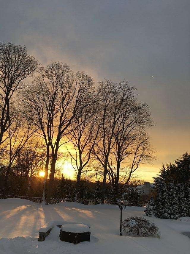 Blizzard 2017 Backyard sunset