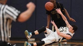 Bayport-Blue Point's Zach Walker attempts to pass the