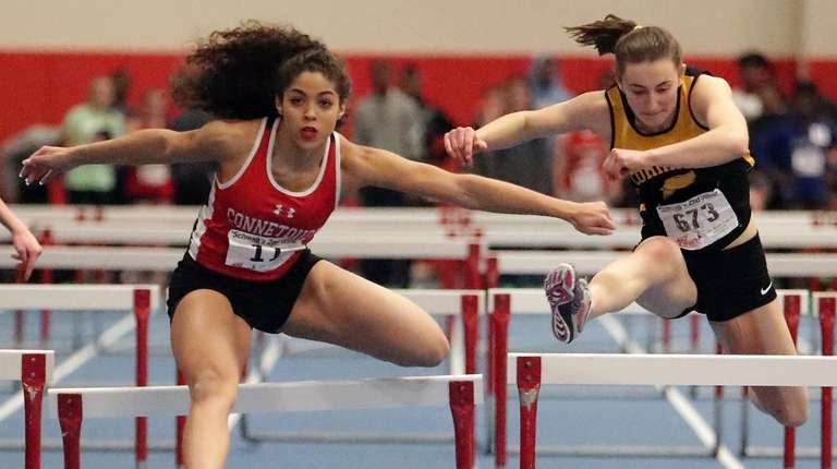 Despite hitting the final hurdle, Connetquot's Bryana Padula