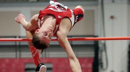 Smithtown East's Daniel Claxton clears 6 feet, 10