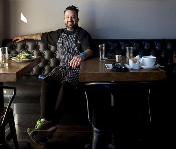 James Tchinnis, chef-owner of Swallow Restaurant, says he