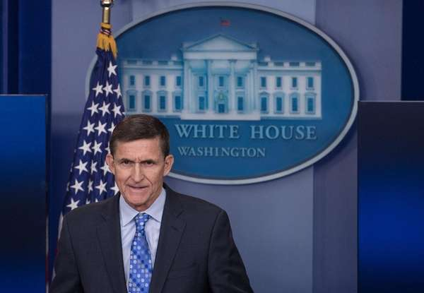 National Security adviser Michael Flynn speaks during the