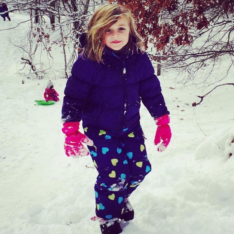 My granddaughter Brynn Decker, 4 years old, enjoying