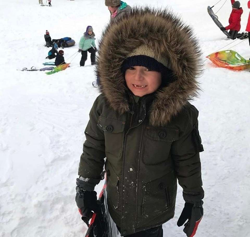 Devin loving the snow!!!!