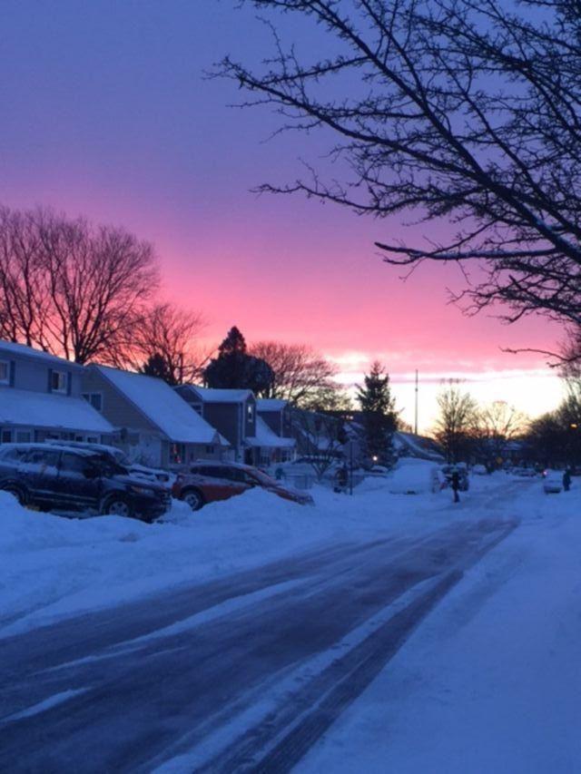 Sunset on Avoca ave, Bethpage.
