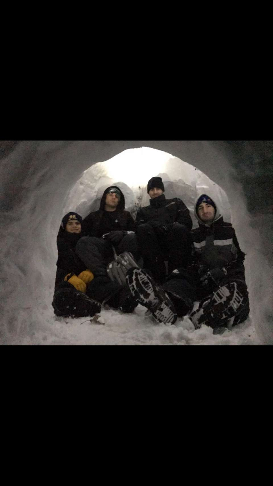 The snowday called for a record making igloo.