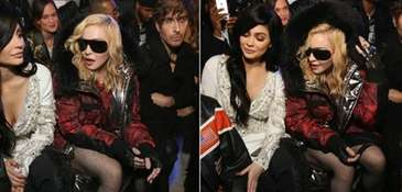 Kylie Jenner and Madonna attend the Philipp Plein