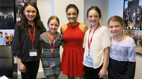 Kidsday reporters, from left, Grace Carolan, Margaret Daly,