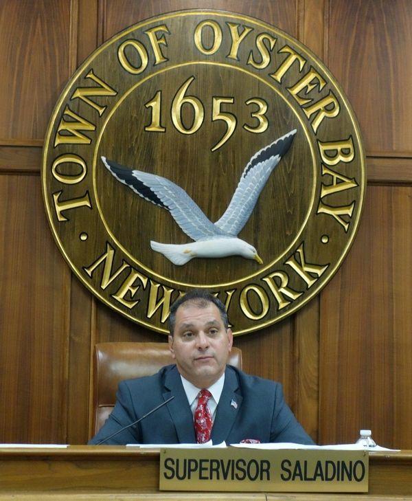 Oyster Bay Town Supervisor Joseph Saladino presides over