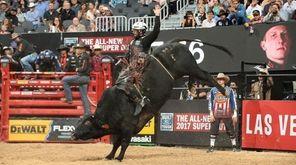 Cooper Davis rides a bull named Dead Calm