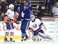 Toronto Maple Leafs' Matt Martin celebrates a goal