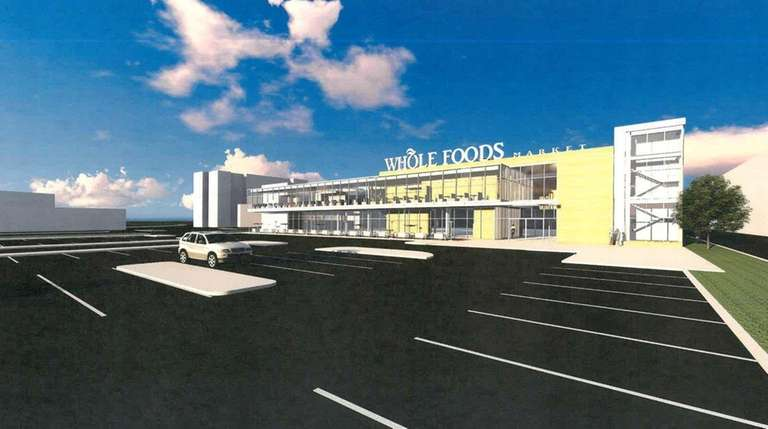 An artist's rendering of a planned Whole Foods