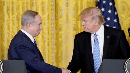Israeli Prime Minister Benjamin Netanyahu and President Donald