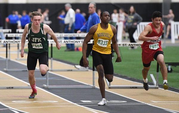 Dashawn Jackson of Roosevelt wins the 55 meter