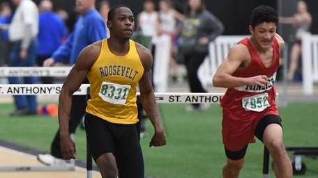 Dashawn Jackson of Roosevelt wins the 55 meter