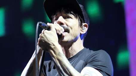 Red Hot Chili Peppers frontman Anthony Kiedis performs