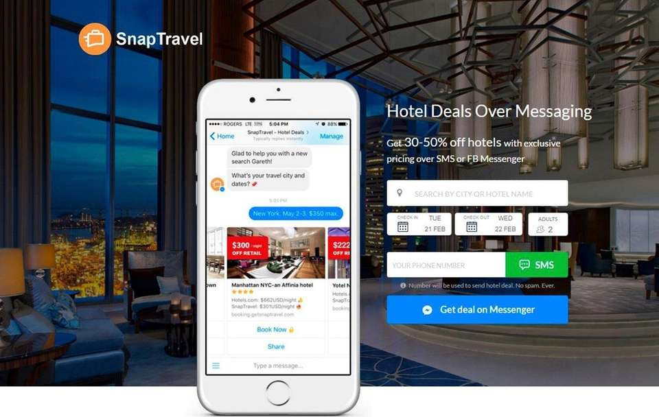 NAME GetSnapTravel.com WHAT IT DOES The website uses