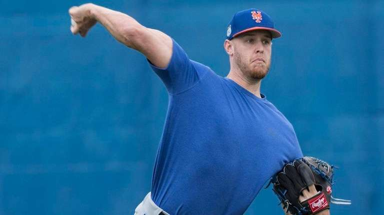 Mets pitcher Zack Wheeler during a spring training