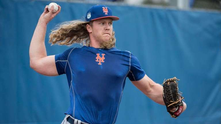 NY Mets pitcher Noah Syndergaard Monday Feb13, 2017