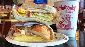 Egg sandwiches are served on house-baked rolls at