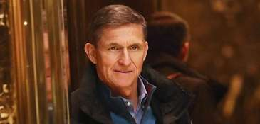 Retired Lt. Gen. Michael Flynn arrives at Trump