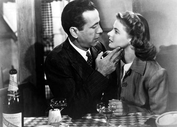 Humphrey Bogart and Ingrid Bergman in
