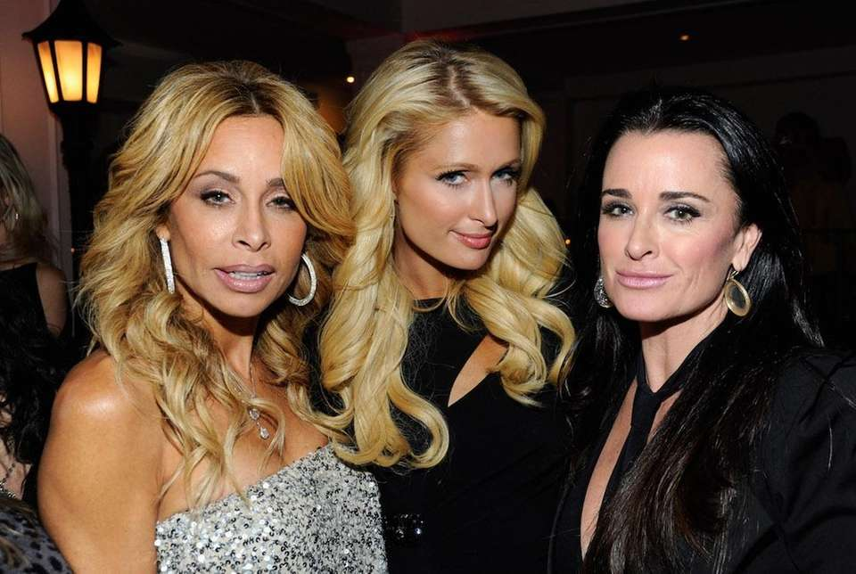 Faye Resnick, Paris Hilton and Kyle Richards attend