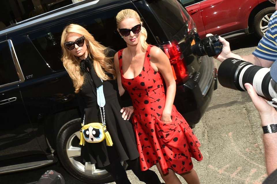 Paris Hilton and Nicky Hilton Rothschild at Lexus